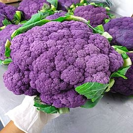 Cauliflower, Purple - Grown Organically and individually priced