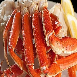 Crab- Snow Crab Legs (Canadian) By the Cluster (8-10oz)